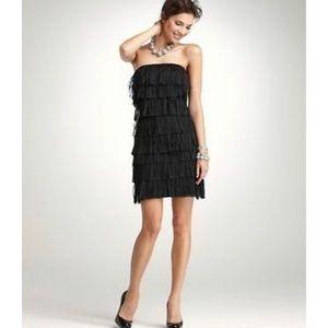 💫Ann Taylor strapless fringe flapper shift dress